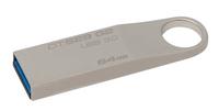Kingston Technology DataTraveler SE9 G2 64GB 64GB USB 3.0 (3.1 Gen 1) Typ A Silber USB-Stick (Silber)