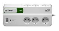 APC PM6U-GR Überspannungsschutz (Weiß)