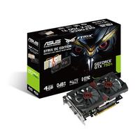ASUS STRIX-GTX750TI-DC2OC-4GD5 NVIDIA GeForce GTX 750 Ti 4GB (Schwarz, Rot)