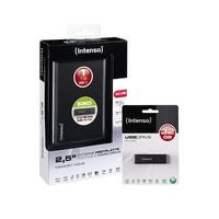Intenso Memory Home USB 3.0 1TB + Alu Line 32GB (Schwarz)