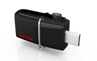 Sandisk 16GB Ultra Dual USB Drive 3.0 16GB USB 3.0/Micro-USB Schwarz USB-Stick (Schwarz)