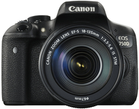 Canon EOS 750D + EF-S 18-135mm (Schwarz)