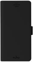 PURO UNIWALLET1BLKM Geldbörsenhülle Schwarz Handy-Schutzhülle (Schwarz)