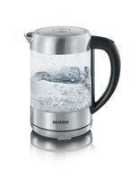 Severin WK 3470 Wasserkocher (Silber, Transparent)