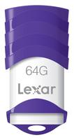 Lexar 64GB JumpDrive V30 64GB USB 2.0 Violett, Weiß USB-Stick (Violett, Weiß)
