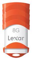 Lexar 8GB JumpDrive V30 8GB USB 2.0 Weiß USB-Stick (Orange, Weiß)