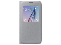 Samsung S View Cover Canvas (Silber)