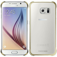 Samsung Clear Cover (Gold, Transparent)