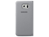 Samsung Flip Wallet Canvas (Silber)