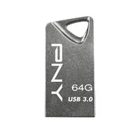PNY T3 Attaché 64GB 64GB USB 3.0 Grau USB-Stick (Grau)