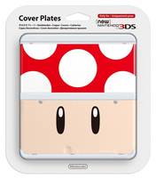Nintendo New 3DS Cover 007 (Cream, Rot, Weiß)