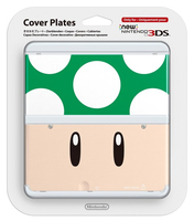 Nintendo New 3DS Cover 008 (Cream, Grün, Weiß)