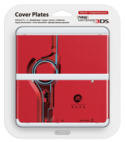Nintendo New 3DS Cover 025 (Blau, Rot)