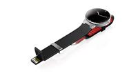 Alcatel OneTouch Watch (Schwarz, Rot, Edelstahl)