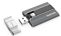 Sandisk iXpand 128GB 128GB USB 2.0/Lightning Schwarz, Grau USB-Stick (Schwarz, Grau)