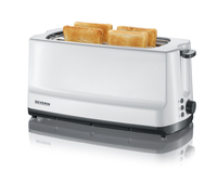 Severin AT 2234 4Scheibe(n) 1400W Grau, Weiß Toaster (Grau, Weiß)