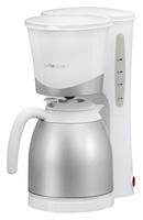 Clatronic KA 3327 Freistehend Halbautomatisch Filterkaffeemaschine 1l 10Tassen Silber, Weiß (Silber, Weiß)