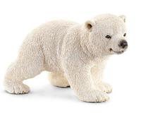 Schleich Wild Life Eisbärjunges laufend (Weiß)