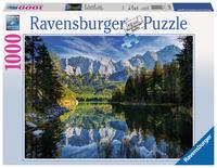 Ravensburger Eibsee mit Wettersteingebirge und Zugspitze