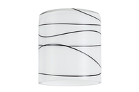 Paulmann 600.53 Wohnzimmer Schwarz, Weiß Glas Lampenschirm (Schwarz, Weiß)