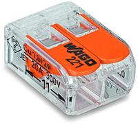 Wago 221-412 Cage Clamp Orange,Transparent Drahtverbinder (Orange, Transparent)