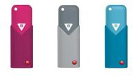 Emtec Click B100, 8GB, 3pcs (Blau, Grau, Pink)