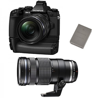 Olympus OM-D E-M1 + M.ZUIKO ED 12‑40mm + M.ZUIKO ED 40‑150mm (Schwarz)