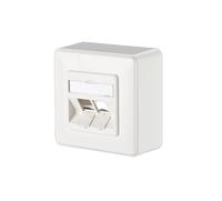 Metz 1309150002-E RJ-45 Telefon-/Antennen-/Steckdose (Weiß)