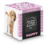 Bigben Interactive RR70PDOGS2 Uhr Digital Weiß Radio (Pink, Weiß)