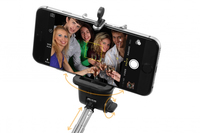 Technaxx Selfie Stick Monopod BT-X13 (Schwarz, Silber)