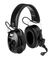 3M MT1H7F2 Binaural Kopfband Schwarz Headset (Schwarz)