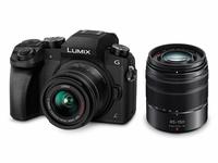Panasonic Lumix DMC-G70 + H-FS014042 + H-FS45150 Systemkamera 16.4MP Live MOS 4592 x 3448Pixel Schwarz (Schwarz)