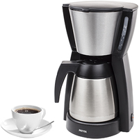 Petra Kaffeeautomat Belluno Thermo KM 52.58 (Schwarz, Edelstahl)