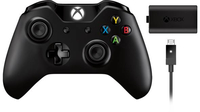 Microsoft Xbox One Wireless Controller Play and Charge Kit (Schwarz)