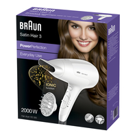 Braun Satin Hair 3 2000W Weiß (Weiß)