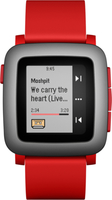 Pebble Time 2.5Zoll 42.5g Grau Smartwatch (Rot, Grau)