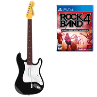 Mad Catz Rock Band 4 - Wireless Fender Stratocaster Guitar Bundle, PS4