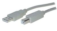 S-Conn 3m USB 2.0 A - USB 2.0 B (Grau)