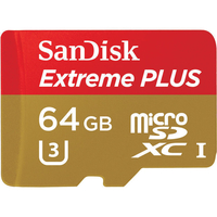 Sandisk 64GB Extreme Plus microSDXC (Gold, Rot)