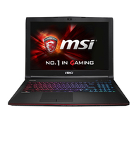 MSI Gaming GE62-2QFI716SR21BW (Apache Pro) (Schwarz, Rot)