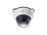 LevelOne PTZ-Dome-Netzwerkkamera, 2 Megapixel, 802.3af PoE, Tag/Nacht, IR-LEDs, 3fachen Optischen Zoom, WDR, Outdoor (Schwarz, Weiß)