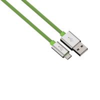 Hama 1m, USB2.0-A - USB2.0-Micro-B (Grün)