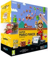 Nintendo Wii U + Super Mario Maker + amiibo (Schwarz)