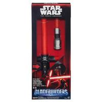Hasbro Star Wars Das Erwachen der Macht Kylo Ren Deluxe Elektronisches Lichtschwert (Schwarz, Rot)