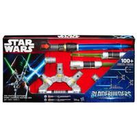 Hasbro Star Wars Bladebuilders Jedi-Meister Lichtschwert (Grau, Blau)