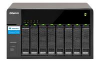QNAP TX-800P HDD enclosure 2.5/3.5Zoll Schwarz Speichergehäuse (Schwarz)