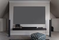 "Elite Screens ""Aeon Edge Free AR110DHD3"" Rahmenleinwand kein sichtbarer Rahmen 243,8cm x 137,2cm (BxH) 16:9 (Grau)"