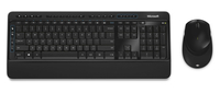 Microsoft Wireless Desktop 3050 RF Wireless QWERTY Schwarz (Schwarz)