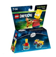 Warner Bros LEGO Dimensions Fun Pack - Bart Simpson (Mehrfarbig)