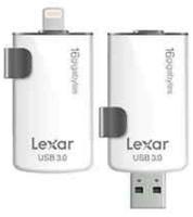 Lexar 16GB, USB 3.0/Lightning 16GB USB 3.0/Lightning Schwarz, Weiß USB-Stick (Schwarz, Weiß)